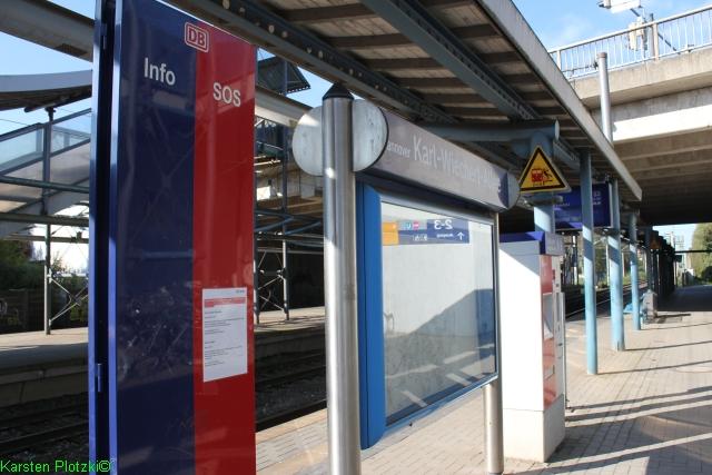 Bahnsteig-Bhf -Karl-Wiechert-Allee in